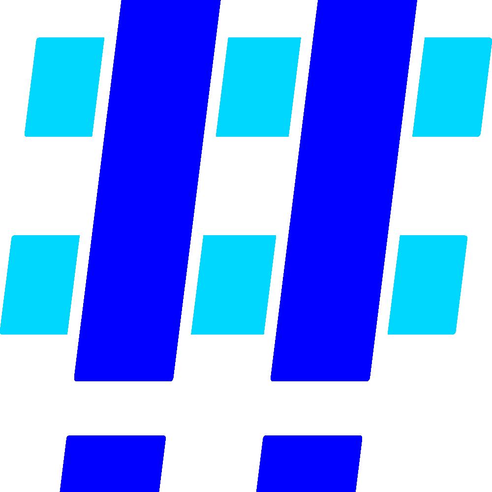 Hashtag Blue Cyan 2x
