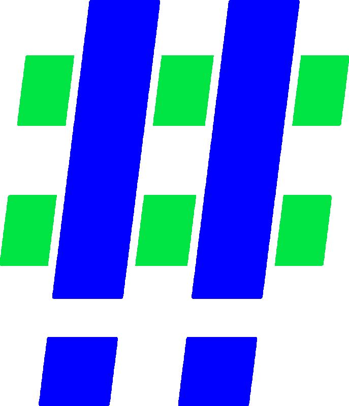 Hashtag Blue Green 2x