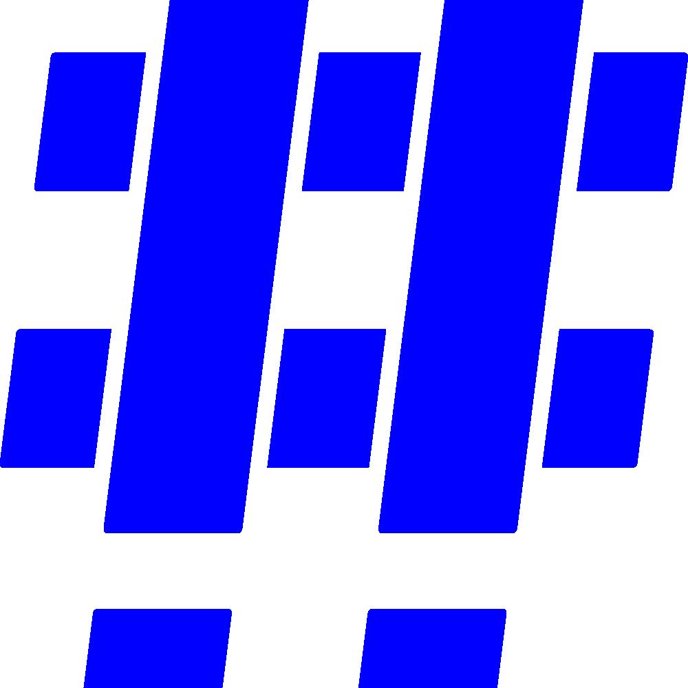 Hashtag Blue Mono 2x