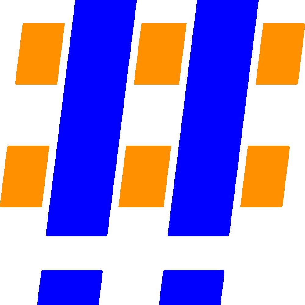 Hashtag Blue Orange 2x