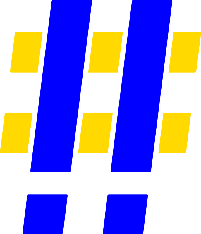 Hashtag Blue Yellow 2x