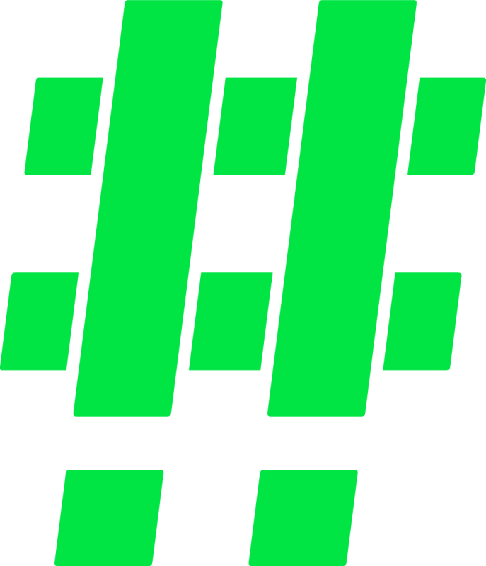 Hashtag Green Mono 2x