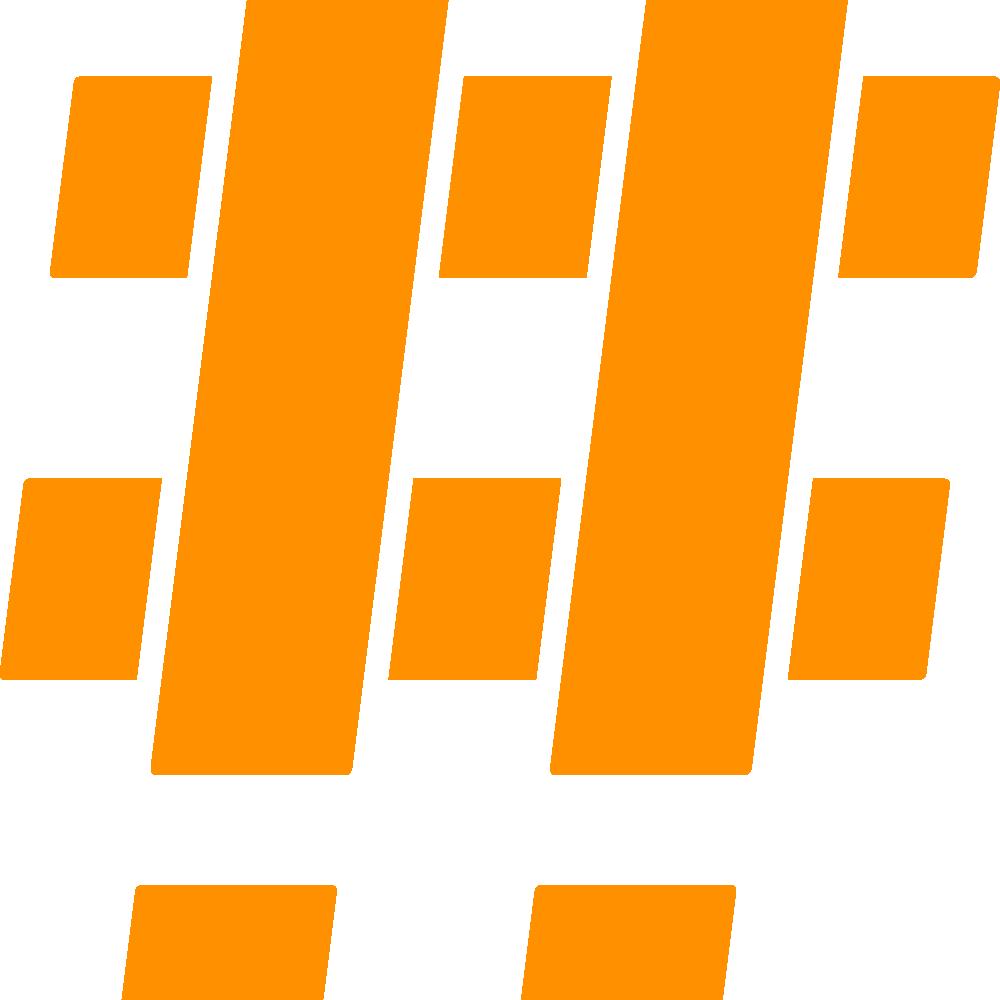 Hashtag Orange Mono 2x