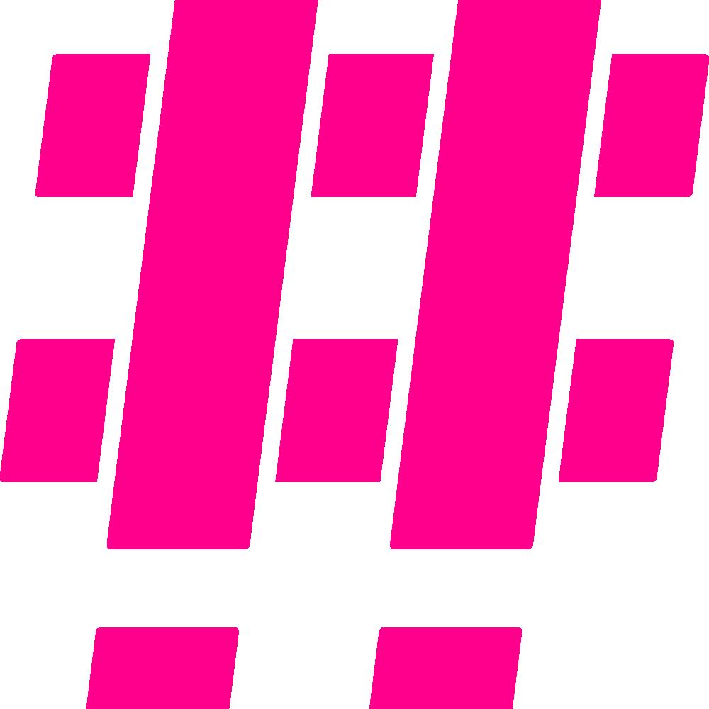 Hashtag Pink Mono 2x